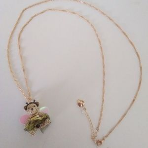 Betsey Johnson New Gold Bear Necklace